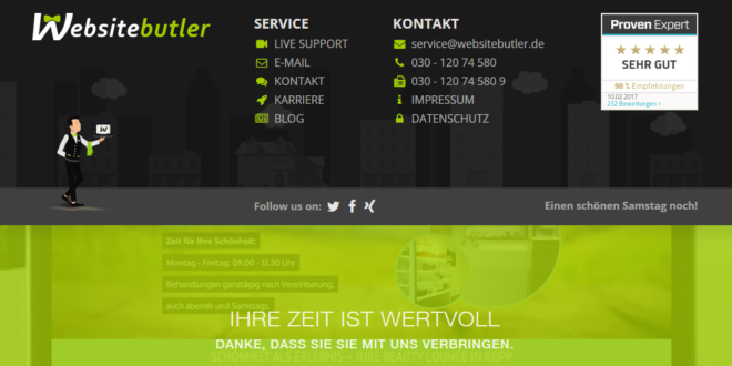 Websitebutler- Eigene Website ganz einfach erstellen lassen!